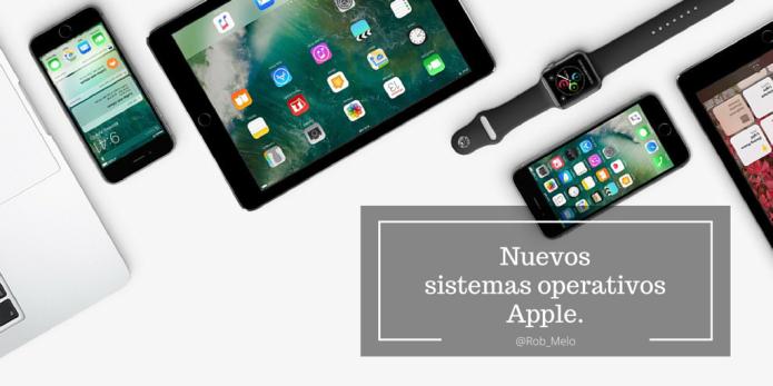 Nuevos sistemas operativos Apple.